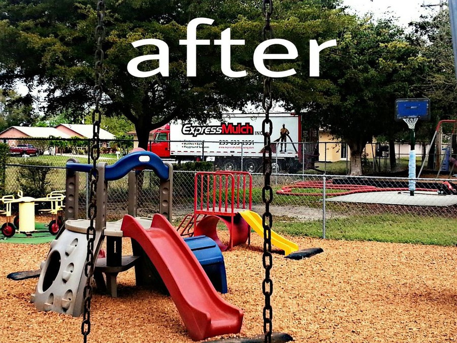 Fort Myers Playground Mulch After Installation